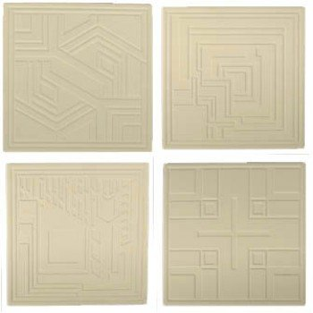 Frank Lloyd Wright Textile Block Designs Etched Sandstone Coasters (Lloyd Frank Block Textile Wright)