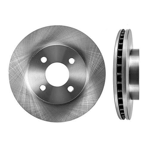 Ion 2 Door Saturn - FRONT Premium Grade OE 256mm 4 Lug [2] Rotors Set CBO200108 [ for Chevrolet Cobalt Saturn ION Pontiac G5 ]