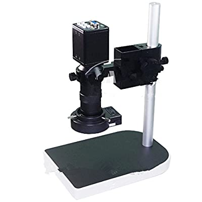 2.0MP 8X-100X HD Industry Microscope Camera Set VGA Video Output R130 C-Mount Lens Stand Holder 40 LED Light illuminator F PCB