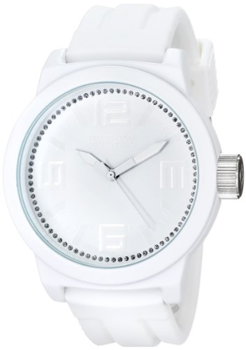 Kenneth Cole Reaction Unisex RK1388 Street Fashion Analog Display Japanese Quartz White Watch