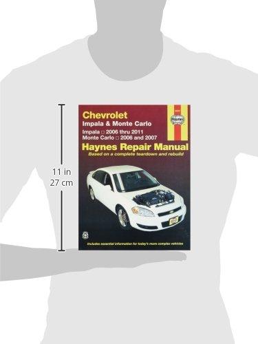 amazon com chevrolet impala 2006 2011 and monte carlo 2006 2007 rh amazon com 2007 chevrolet impala repair manual free 2007 chevy impala repair manual pdf