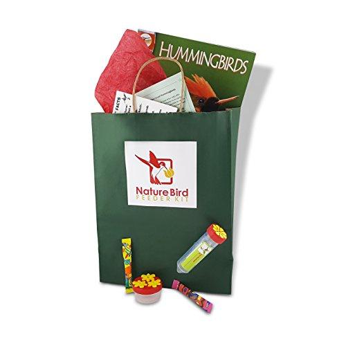 Nature Bird Hand Held Hummingbird Feeder Gift Kit for Family Fun–easy instructions plus: Zoobooks magazine; window-to-hand convertible feeder for child/adult; 3-port palm feeder; nectar mix; fun facts (Hummingbird Feeder Kit)