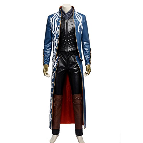 [Harry Shops Devil May Cry 3 Vergil Cosplay Costume-X-Large] (Devil May Cry 3 Costumes)