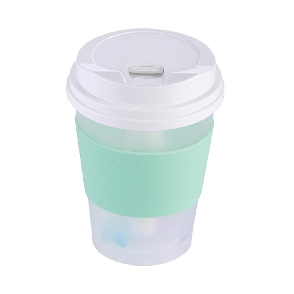 Coerni 300ml Cute Milk Cups USB LED Glowing Humidifier Essential Oil Diffuser for Car, Office, Home (Green) by Coerni (Image #9)