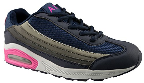 Air Tech Womens Synthetic Leather Running Shoes Blue bogxr3Q