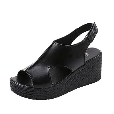 Women's Platform Sandal,Fullfun Comfort Open Peep Toe Platform Fashion Chunky Ankle Strap Walking Platform Shoe