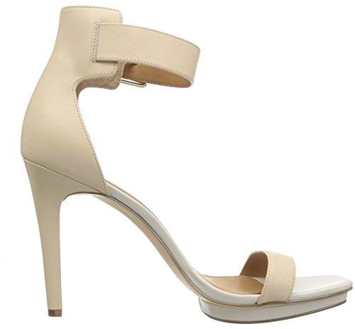 Calvin Klein Womens Vable Platform Dress Sandal Sand/Soft White 6DerGaQI