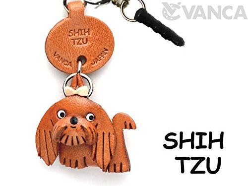 Shih Tzu Leather Dog Earphone Jack Accessory / Dust Plug / Ear Cap / Ear Jack *VANCA* Made in Japan #47760 by VANCA Japan