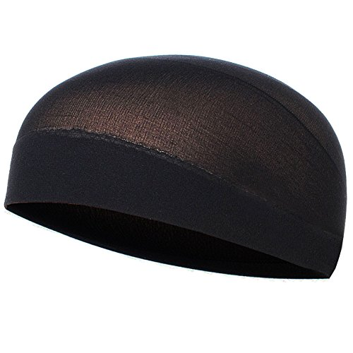 Inexpensive Costume Wigs (Black Wig-Cap(2 Pack))