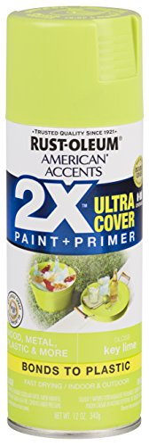 Lime Green Spray Paint - Rust-Oleum 327871-6 PK American Accents Spray Paint, Gloss Key Lime