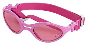 Doggles K9 Optix Shiny Pink Rubber Frame with Pink Lens Sunglasses, X-Small