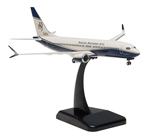 - HG10437G Hogan Boeing Business Jet 737 Max 8 1:200 W:Gear Model Airplane
