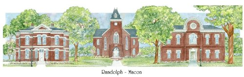 Randolf - Macon College - Collegiate Sculptured Ornament by Sculptured Watercolor Ornaments (Image #3)