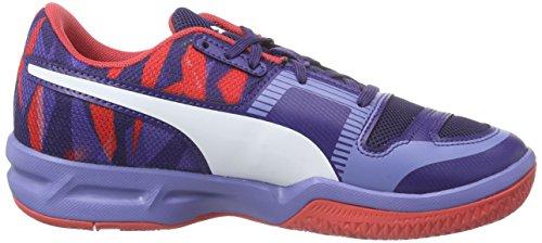 Puma evoIMPACT 5 Jr - Zapatillas deportivas para interior de material sintético Niños^Niñas azul - Blau (astral aura-white-cayenne 04)
