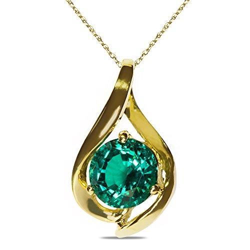10k White Gold Mens Emerald - 8