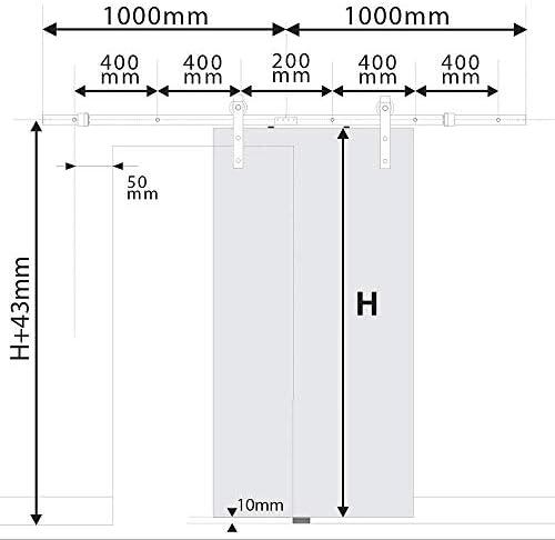PrimeMatik - Rail guía para Puerta corredera de Color Negro Mate de 2m: Amazon.es: Electrónica