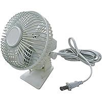 Dayton 6MPP9 Compact Table Fan, 160 CFM, White