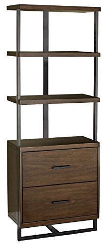 Lexicon District 3-Teir Side Pier with Drawers, Brown -