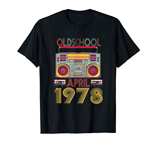 (Retro April 1978 Tshirt 41st Birthday Gift 41 years old)