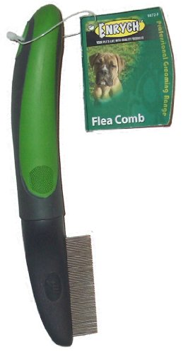 Enrych Flea Pet Comb, Green/Gray Series by Enrych