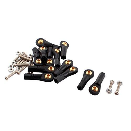 12Pcs 2.5X27X3mm Plastic Rod End Ball Joint Buckle Black w (Plastic Rod End)