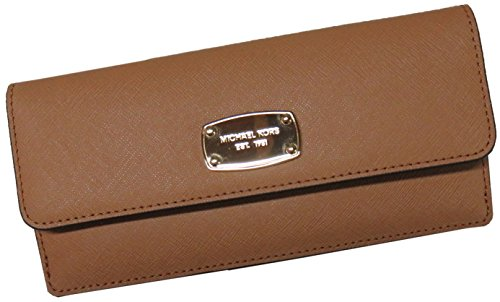 Michael Kors Jet Set Travel Flat Saffiano Leather Wallet (Acorn)