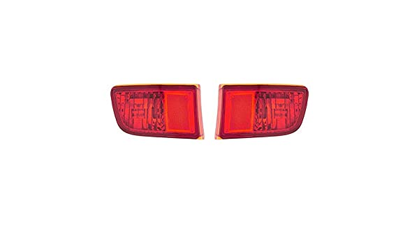 Fits Toyota 4Runner 2003-2005 Rear Reflector Assembly Unit Pair Driver and Passenger Side DOT Certified TO1185101 TO1184101