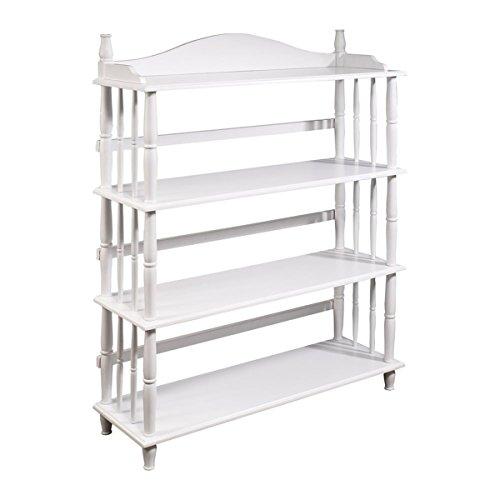 Spindle Bedroom (Altra Daysha 4 Shelf Spindle Leg Bookcase, White)