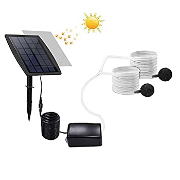 DDSKY Solar Oxygen Pump Solar Powered Oxygen Pump Oxygenator Water Pump Kits for Garden Pool Pond Patio Outdoor
