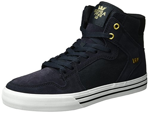 SupraVaider Sneakers Black white Alte Blu Uomo fr6wnxfUSq