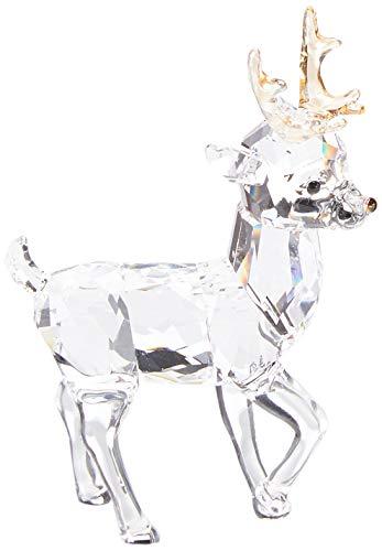 Swarovski Santa s Reindeer, Clear Crystal Christmas D cor,