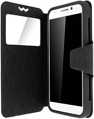 Avizar-Funda de piel universal para Smartphone, diseño de ventana ...