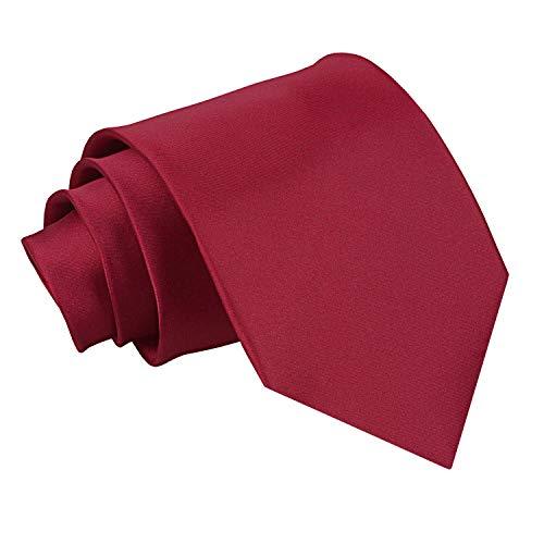 Nueva corbata de caballero lisa de satén DQT - Borgoña: Amazon.es ...