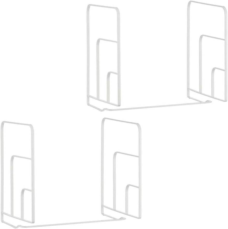 Scaffali divisori per armadi in Metallo per riporre Gli Indumenti con Ordine Argento mDesign Set da 2 divisori per armadi Pratici Organizer Armadio Facili da Montare