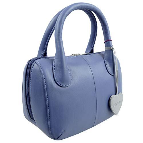 a donna Mala Blue Blu Borsa Blue Leather mano wzAZ64EqA