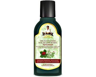 "Hair Oil ""de fermeté"" de tomber avec Bardane huile de camomille, ginseng, Sage, Wild Roses 150 Ml"