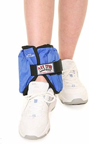 All Pro Unisex Adjustable Single Ankle Weights, Blue, 20 Lbs