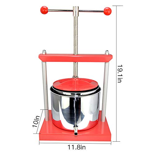 EJWOX 1.6 Gallon Stainless Steel Soft Fruit Wine Juice Press Cheese Making Press by EJWOX (Image #1)