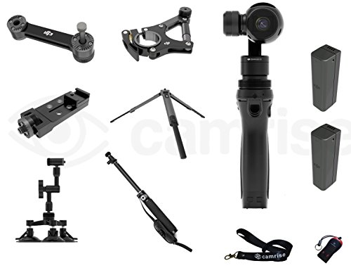 DJI Osmo Everything Plus Bundle: Fully Stabilized 4k, 12mp Camera with (2) Extra Batteries, DJI Bike Mount, Tripod, Universal Mount, Car Mount/extension Stick, Lanyard and USB Reader For Sale