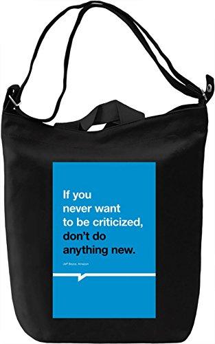 Critic Borsa Giornaliera Canvas Canvas Day Bag| 100% Premium Cotton Canvas| DTG Printing|