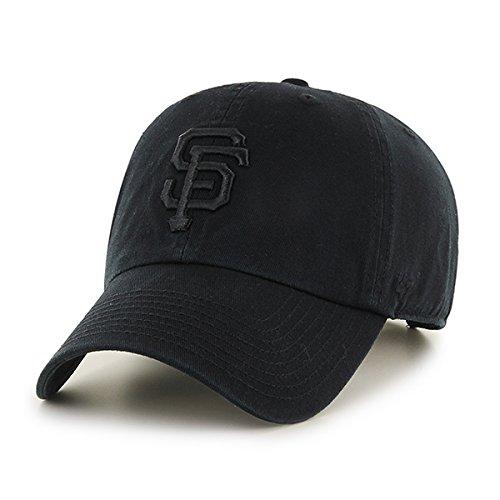 448f16f10c86f San Francisco SF Giants Hat MLB Authentic 47 Brand Clean Up Adjustable  Strapback Black Baseball Cap Adult One Size Men   Women 100% Cotton