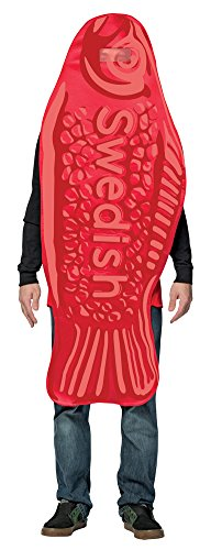BESTPR1CE Mens Halloween Costume- Swedish Fish Tunic Adult Costume