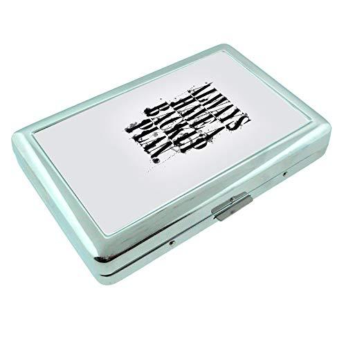 Backup Plan Em1 Hip Silver Cigarette Case Id Holder Metal Wallet 4