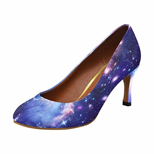 a Classic Fashion High Beautiful InterestPrint Womens Space With Dress Nebula Star Abstract Pump Heel Illustration xgUqvq