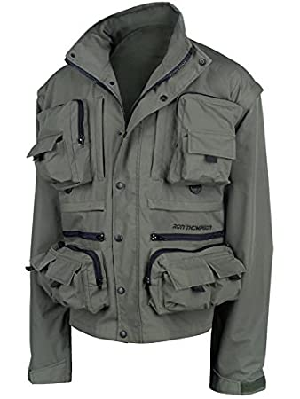 023d2d335c8aa Ron Thompson Fishing Vest and Jacket Ontario 'removeable sleeves' Windproof  and Waterproof: Amazon.co.uk: Sports & Outdoors