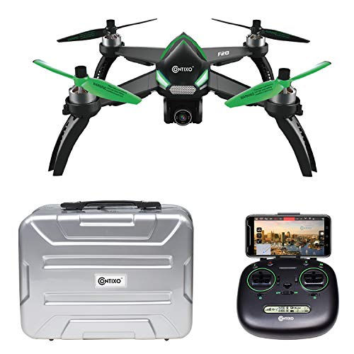 Contixo F20 RC Remote App Controlled Quadcopter Drone | 1080p HD WiFi Camera, Follow Me, Auto Hover, Altitude Hold, GPS, 1-Key Takeoff & Landing, Auto Return +Free Hard Shell Carrying Case ($50 Value)