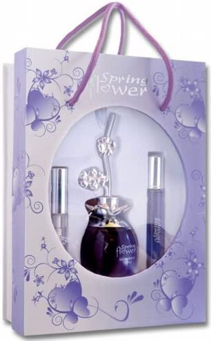 Jean Pierre Sand zi048 – Spring Flower – Estuche para mujer – agua de perfume aerosol 100 ml + Aerosol de bolsillo 20 ml + Gloss para los labios: Amazon.es: Belleza