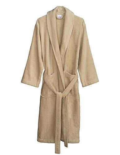 - TowelSelections Women's Robe, Turkish Cotton Terry Shawl Bathrobe X-Large/XX-Large Creme Brulee