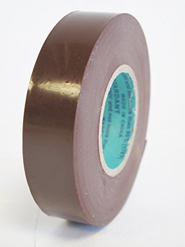 10 Rolls Professional Industrial General Purpose Electrical Tape with Moisture Tight Protection - 3/4 Inch X 66 Feet - Brown Color - 10 Rolls per Case by Electro Tape (Image #2)