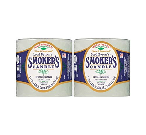 Lord Byron Smoker's Odor Absorbing Candles 2 Pack Bundle ()